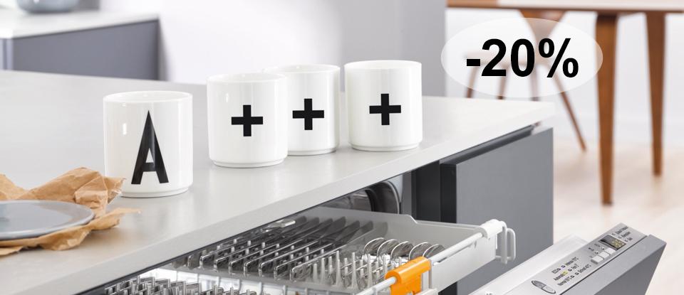 Afwasautomaten met EcoTech-warmteopslag: A+++ - 20%